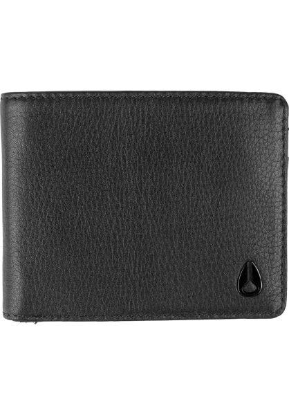 Nixon Portemonnaie Cape Leather Coin black vorderansicht 0781032