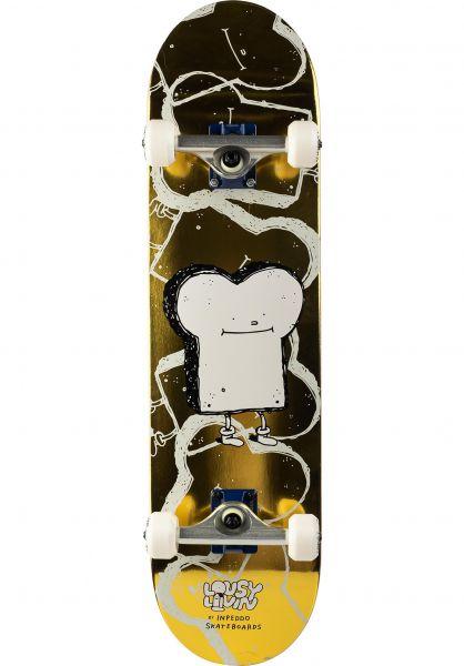 Inpeddo Skateboard komplett x Lousy Livin Premium Toast gold vorderansicht 0162376