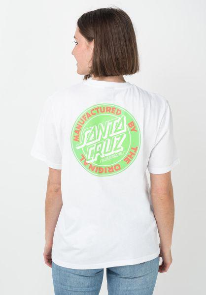 Santa-Cruz T-Shirts MFG Dot Wmn white vorderansicht 0397697