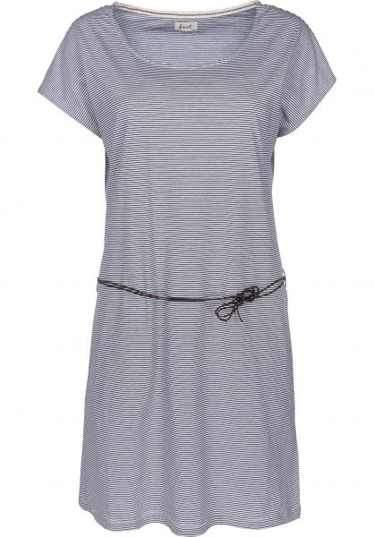 Forvert Kleider Poa beige-navy Vorderansicht
