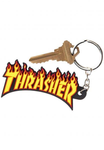 Thrasher Verschiedenes Flame Logo Key Chain yellow vorderansicht 0972409