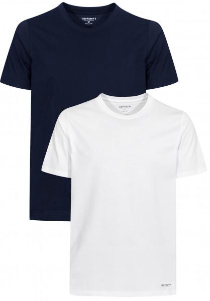 Carhartt WIP T-Shirts Standard Crew Neck (Doppelpack) white-navy Vorderansicht