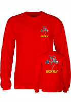 Powell-Peralta Longsleeves Skateboard Skeleton red Vorderansicht