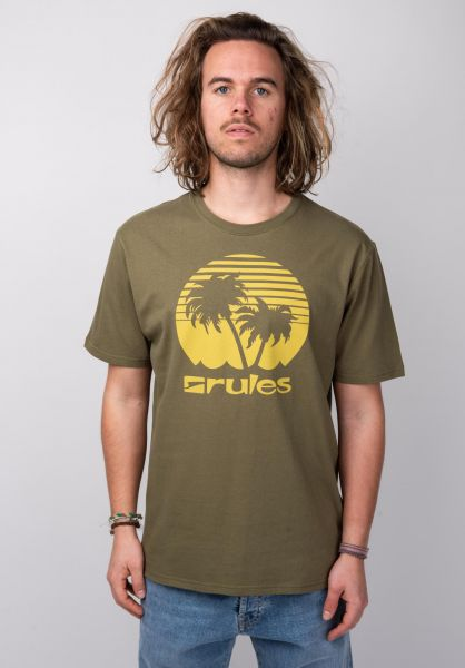 Rules T-Shirts Palms olive vorderansicht 0395411