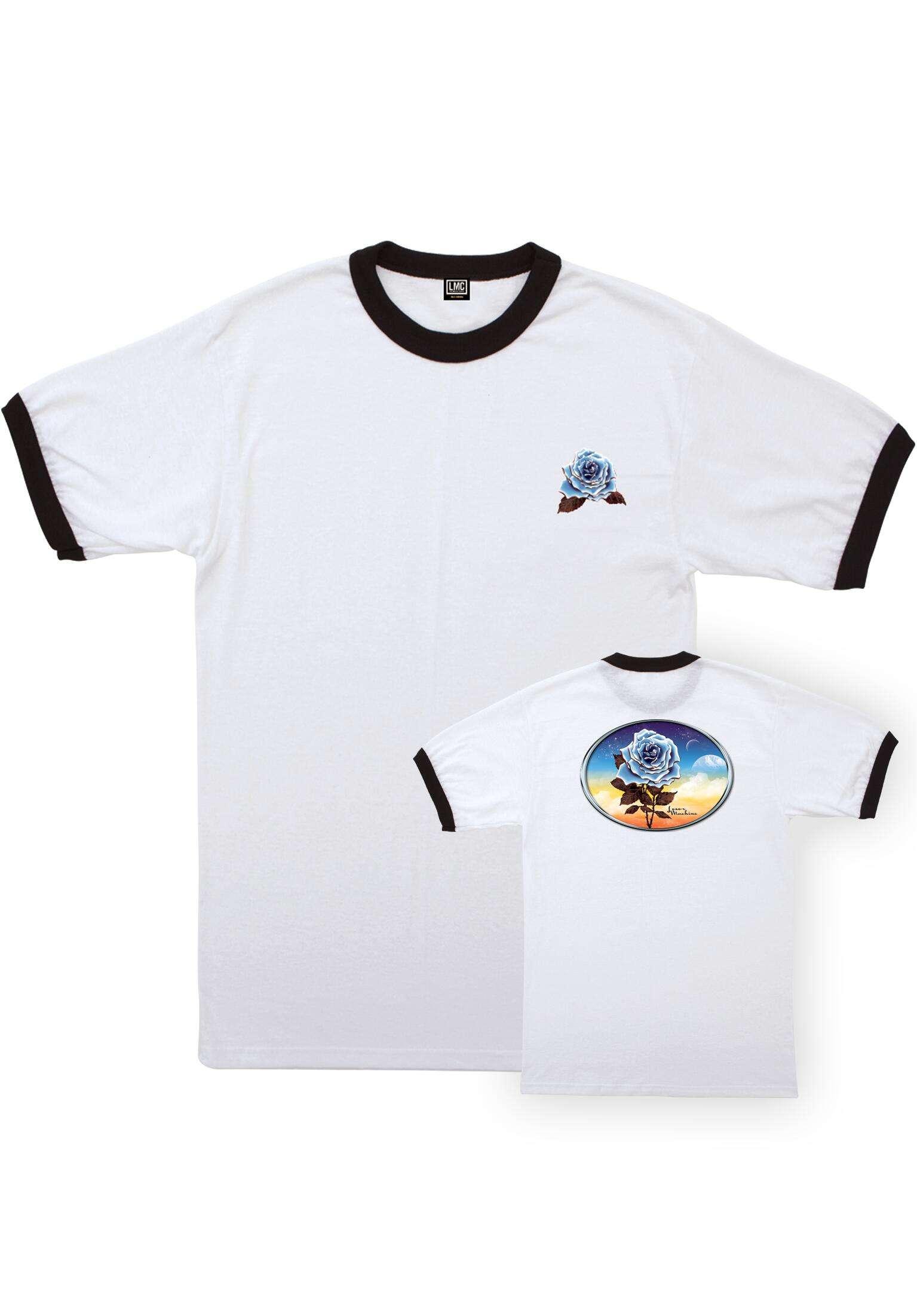 61b488af5607 Chrome Rose Ringer Loser-Machine T-Shirts in white-black for Men | Titus