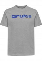 Rules T-Shirts Basic heathergrey-blue Vorderansicht
