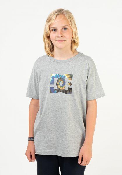DC Shoes T-Shirts Star Tx Dye Fill Kids heathergrey vorderansicht 0324170