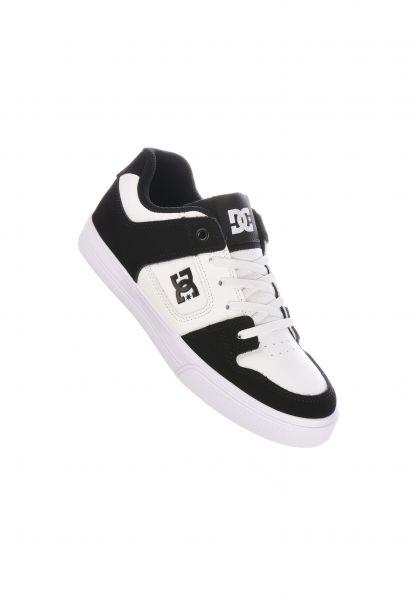 DC Shoes Alle Schuhe Pure Elastic Kids white-black vorderansicht 0216076