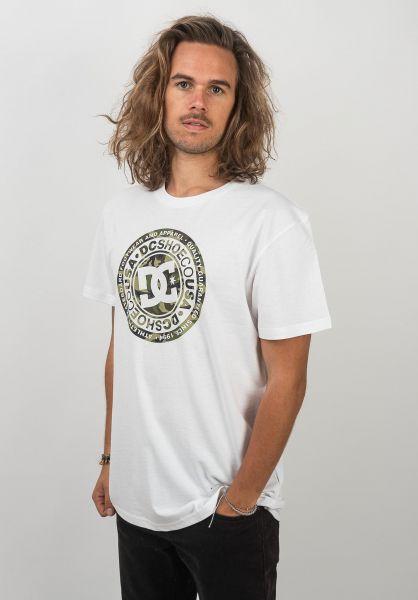 DC Shoes T-Shirts Circle Star 2 white-camo vorderansicht 0320589
