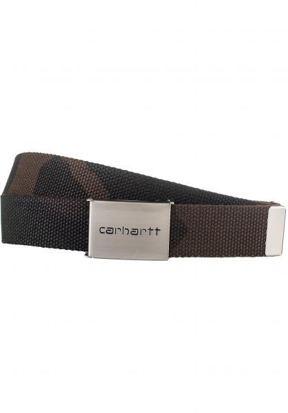 Carhartt WIP Gürtel Clip Belt Chrome camo-evergreen vorderansicht 0771617