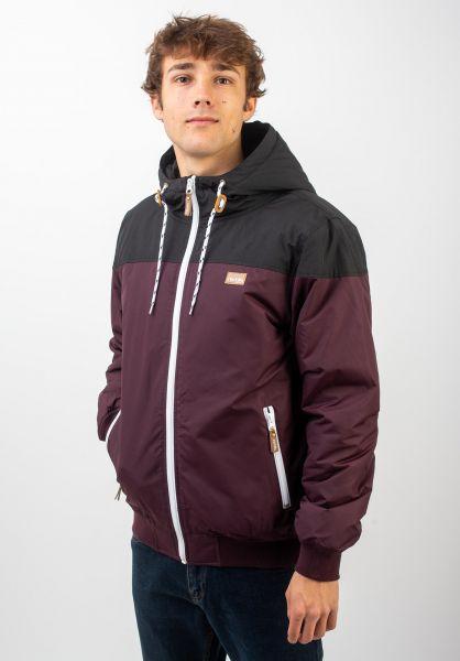 iriedaily Winterjacken Insulaner Jacket redwine vorderansicht 0503441
