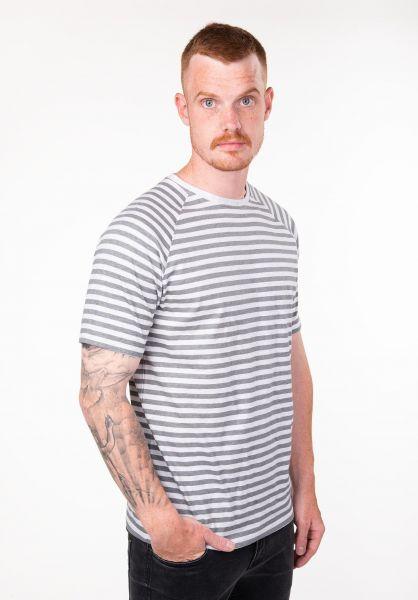 TITUS T-Shirts Tobias lightgrey-striped vorderansicht 0397475
