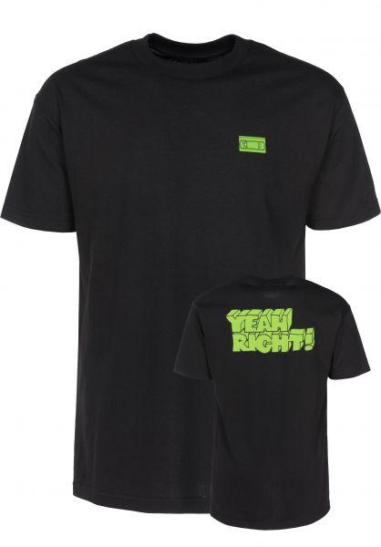 Girl T-Shirts Yeah Right black Vorderansicht