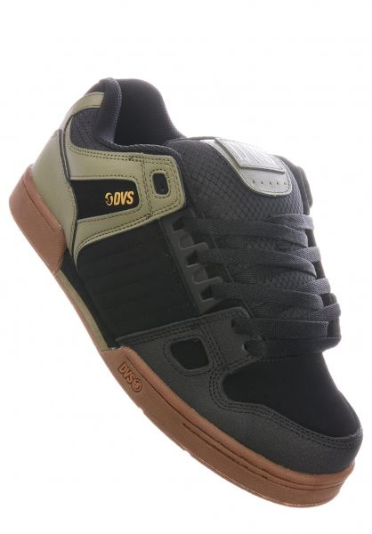 DVS Alle Schuhe Celsius black-olive-gum vorderansicht 0603780