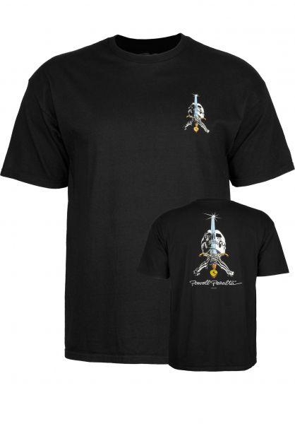 Powell-Peralta T-Shirts Skull & Sword black Vorderansicht