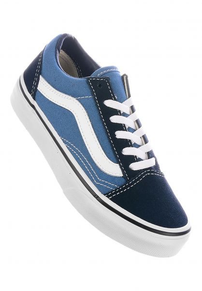 Vans Alle Schuhe Old Skool Kids navy-white vorderansicht 0216057