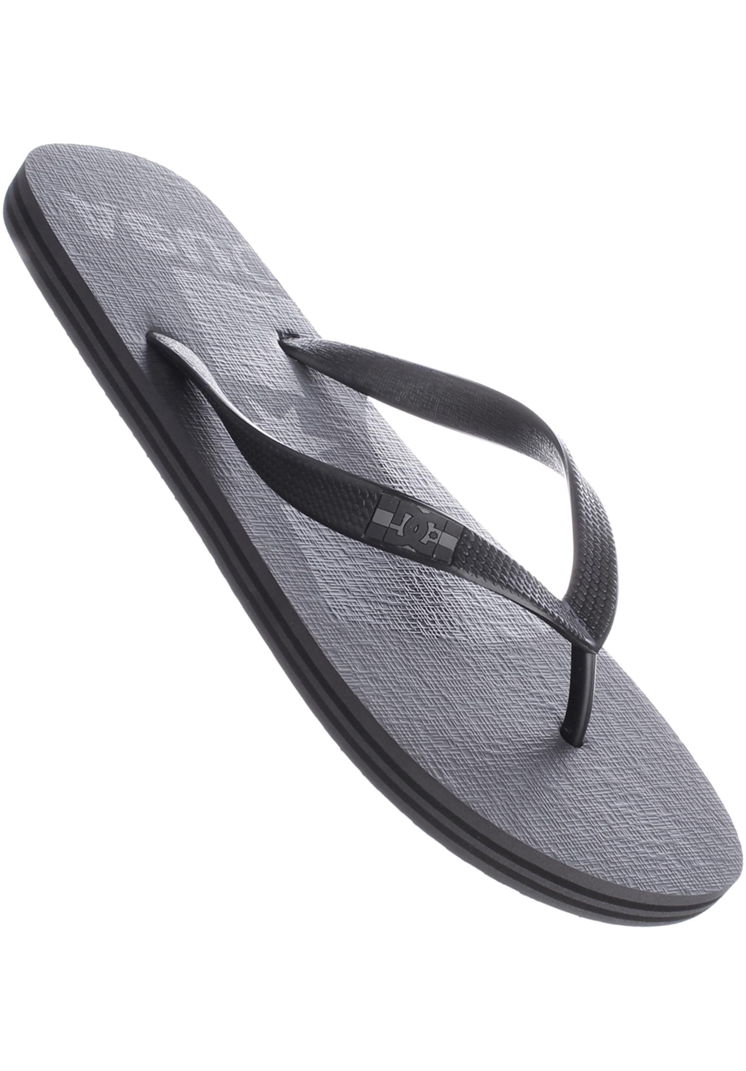 Spray Logo DC Shoes Sandals in grey