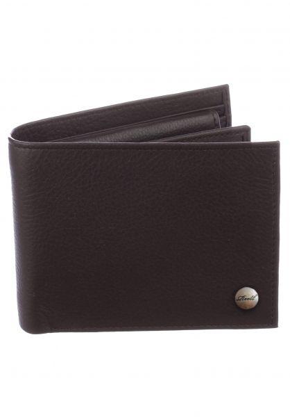 Reell Portemonnaie Button Leather Wallet brown Vorderansicht 0780818