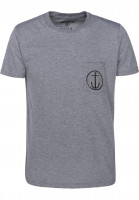 Captain-Fin-T-Shirts-Helm-Premium-Pocket-heathergrey-black-Vorderansicht