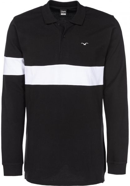 Cleptomanicx Longsleeves Block Stripe black Vorderansicht