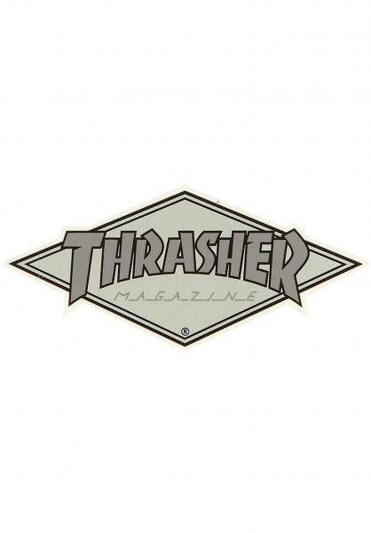 Thrasher Verschiedenes Diamond Logo Sticker grey Vorderansicht