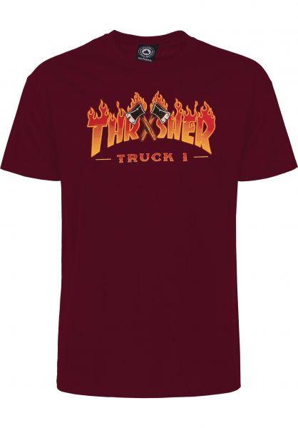 Thrasher T-Shirts Truck 1 maroon vorderansicht 0323417