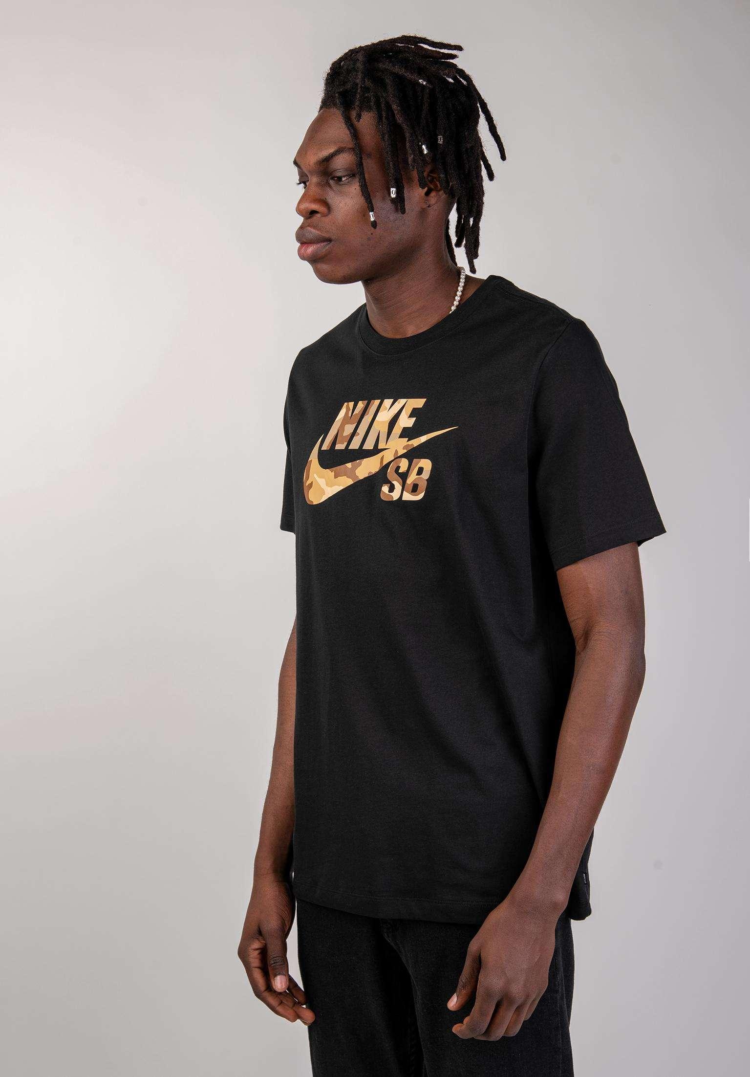 b0fed87562f9 DFT Icon Logo Snsl 2 Nike SB T-Shirts in black-desertcamo for Men | Titus