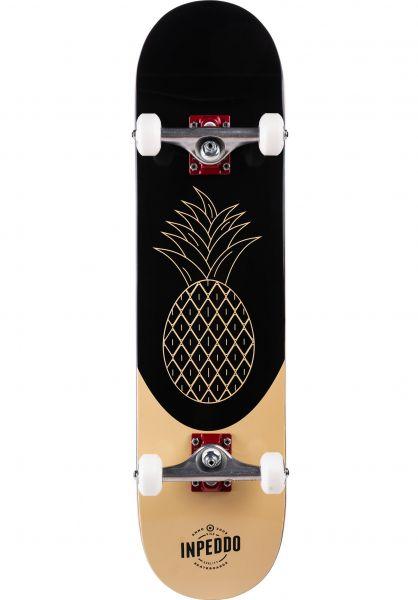 Inpeddo Skateboard komplett Pine black-beige vorderansicht 0161919