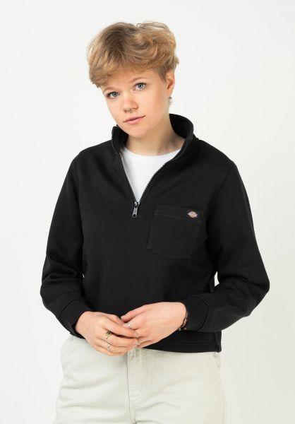 Dickies Sweatshirts und Pullover Oakport Quarter black vorderansicht 0423075