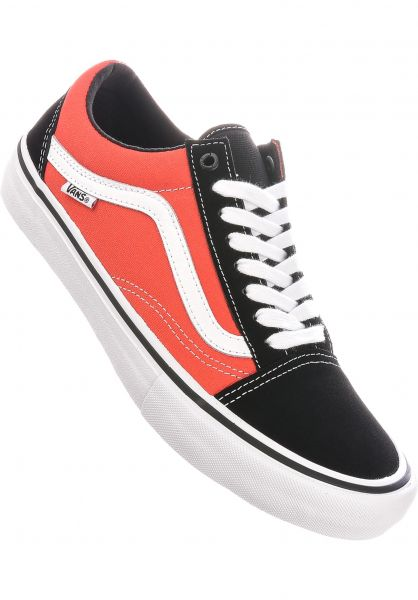 Vans Alle Schuhe Old Skool Pro black-orange vorderansicht 0603817