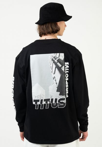 TITUS Longsleeves Everaldo black vorderansicht 0412038