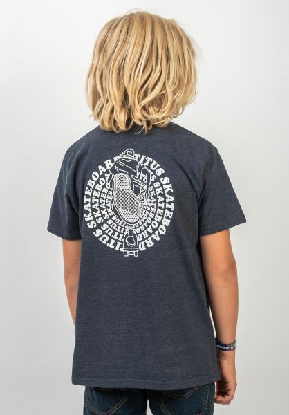 TITUS T-Shirts Naim Kids deepnavymottled vorderansicht 0399263