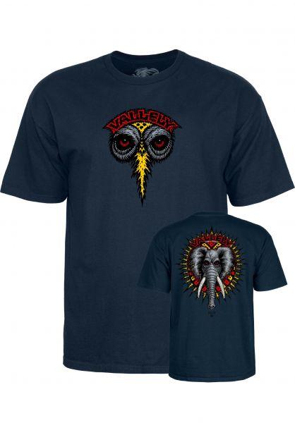 Powell-Peralta T-Shirts Vallely Elephant navy Vorderansicht