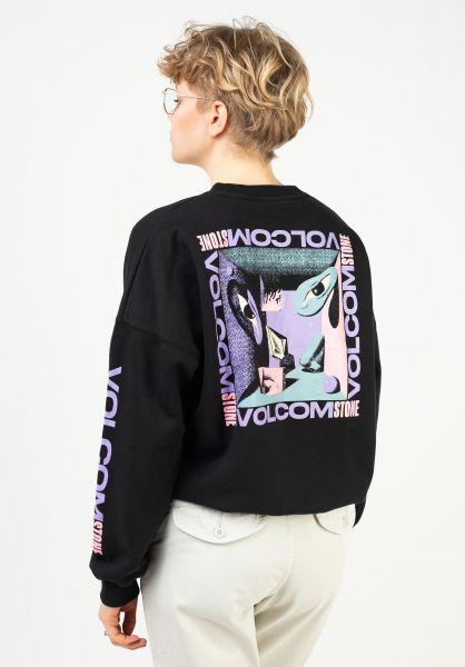 Volcom Sweatshirts und Pullover Mentrip black vorderansicht 0423085