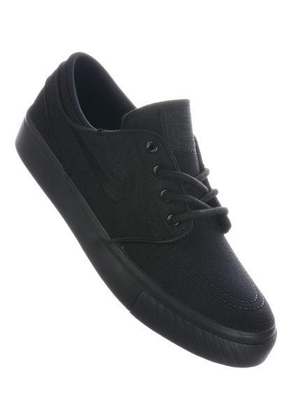 Nike SB Alle Schuhe Zoom Stefan Janoski Canvas GS black-black-anthracite vorderansicht 0216051