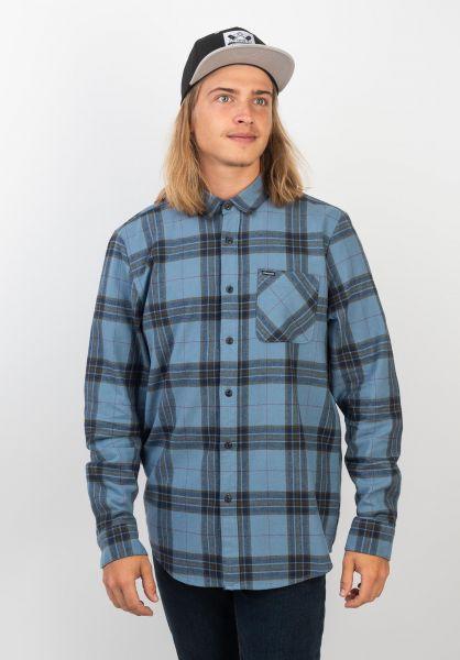Volcom Hemden langarm Caden Plaid bluerinse vorderansicht 0411825