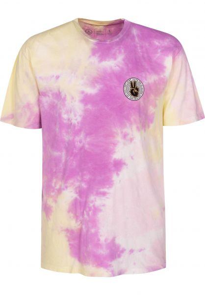 Neff T-Shirts Pastel Wash violet-lemonade vorderansicht 0399421