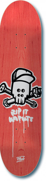 MOB-Skateboards Skateboard Decks Skull-Logo-Red-Veneer-7.5 no color Vorderansicht