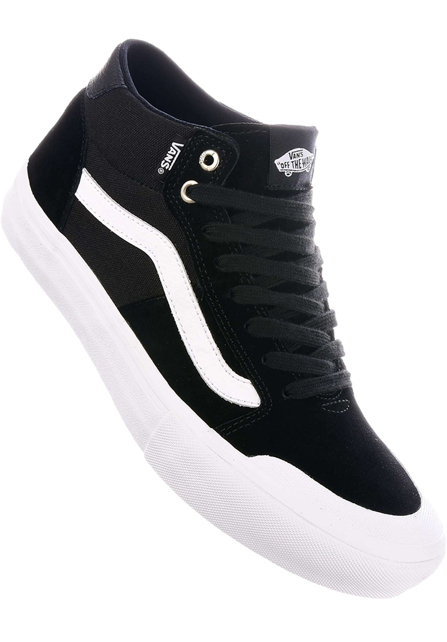 a1f8eb7f8f5520 Style 112 Mid Pro Vans All Shoes in black-white for Men