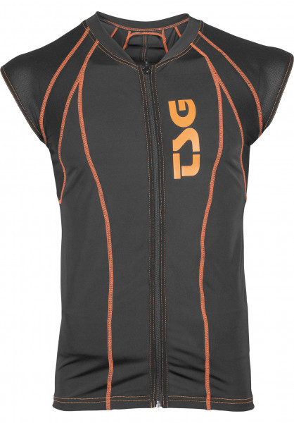 TSG Diverse Schoner Backbone Vest D3O black-orange Vorderansicht
