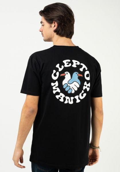 Cleptomanicx T-Shirts Trust black vorderansicht 0323010
