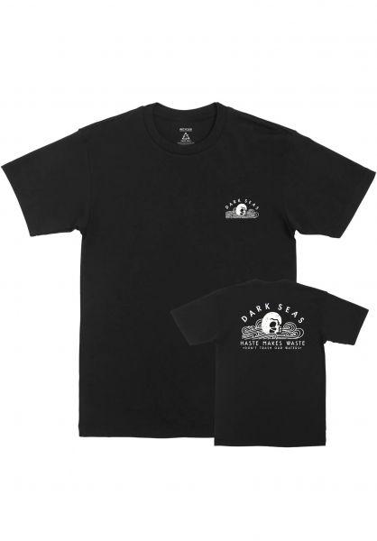 Dark Seas T-Shirts No Waste Recycled black vorderansicht 0322752