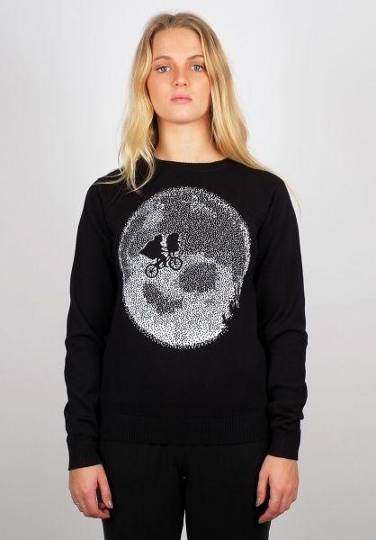 Dedicated Sweatshirts und Pullover Ystad ET Moon black vorderansicht 0422740