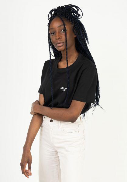 Reell T-Shirts Womens Logo deepblack vorderansicht 0324098