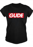GUDE-T-Shirts-Schranke-Girlie-black-Vorderansicht