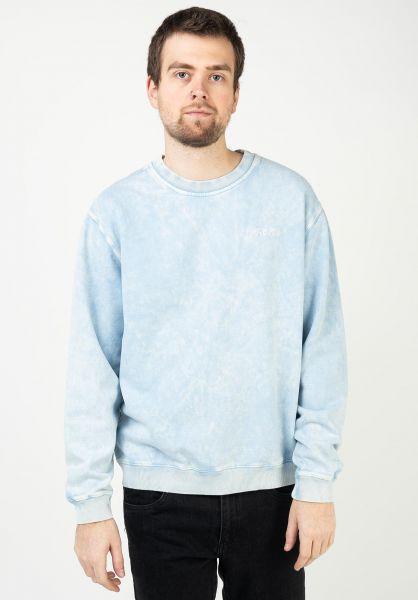 Volcom Sweatshirts und Pullover Atwall Crew Fleece aetherblue vorderansicht 0423155