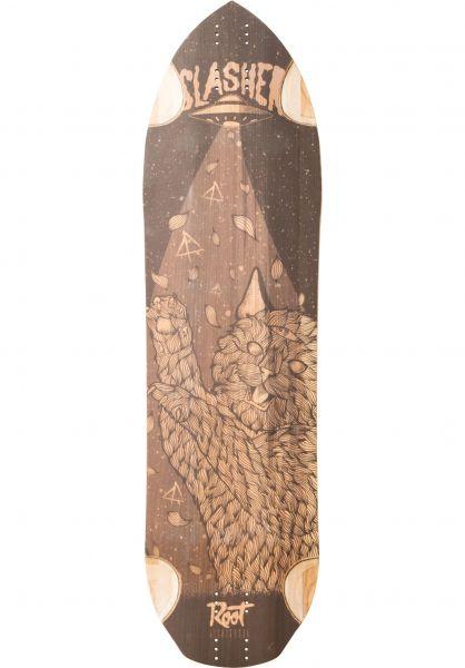 Root Longboards Longboard Decks Slasher brown Vorderansicht