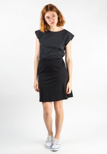 Forvert Kleider Hannah black-white vorderansicht 0801467