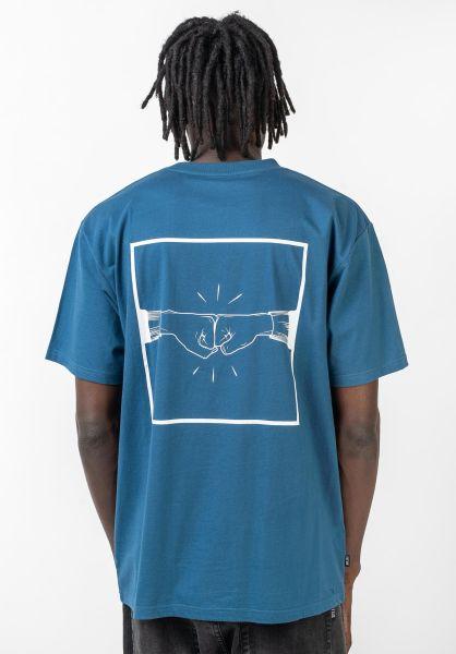 TITUS T-Shirts Emin-Backprint stellar-white vorderansicht 0399255