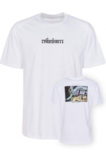 Carhartt WIP T-Shirts King Cobra white Vorderansicht